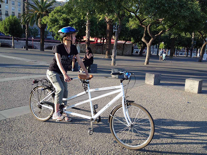 alex-on-a-tandem-bike-barcelona